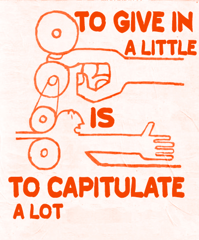 To Give In Is To Capitulate a Lot